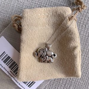 Sterling silver 925 elephant necklace